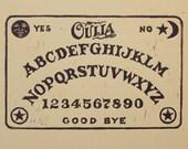 Ouija Board Block Print
