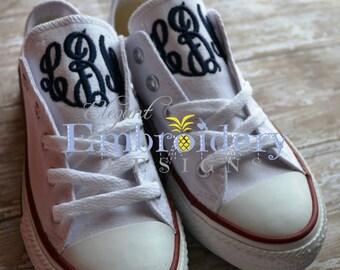 Ladies - Monogrammed Converse- Monogrammed Converse- Monogrammed Chuck Taylors-Monogrammed Shoes - Bridal Shoes