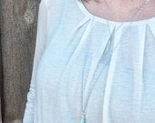 Mint Teardrop Long Layering Necklace
