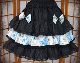 Gothic lolita striped birdcage skirt