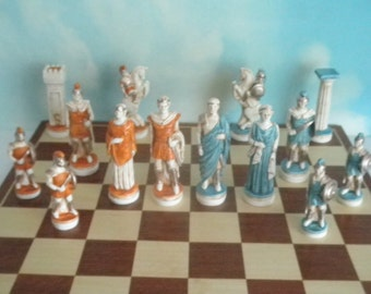 The Trojan Wars -Helen of Troy  -hand painted chess set
