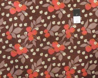 Nel Whatmore PWNW031 Eden Cherry Dark Brown Fabric By Yard