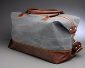 Overnight Bag / Weekender Bag / Leather Travel Bag / Waxed Canvas Duffel / Large Zippered Overnight Bag / Carryon Luggage