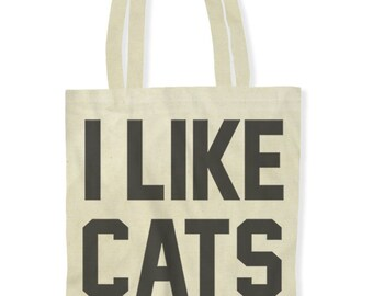 I Like Cats (Tote Bag)