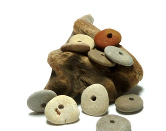 Beach Stones Pebble Rocks Natural Jewelry Beads Cairn Spacers Artisan Supporting Beads Soft Palette Gecko Palette TUMBLEWEED