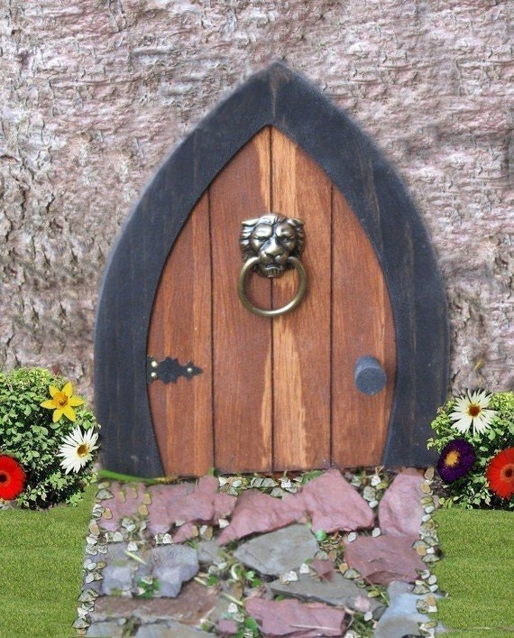 Gnome doors fairy doors faerie doors elf doors 9 inch with for The faerie door