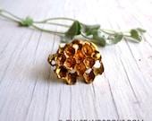 Honeycomb Ring, Honey ring, Beehive Ring, Bronze Bee Ring, Honeycomb jewelry, Bronze and Sterling Silver, Handmade in my Austin Texas studio