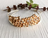 Honeycomb Cuff Bracelet Beehive Bronze and Sterling Silver Chase and Scout C&S