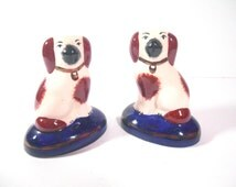 Pair of Small Staffordshire Ware Ornamental Dogs