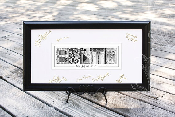 Wedding Guest Book Picture Frame Art Alternative Guest Book