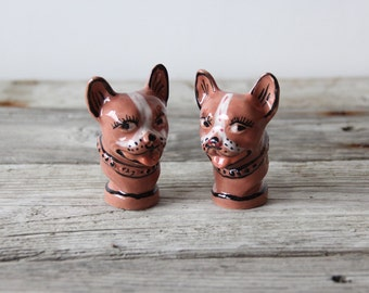 1950s Pink French Bulldog Salt & Pepper Shakers