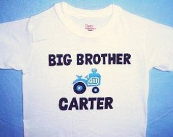 Big Brother Tractor Shirt, Tractor Big Brother Shirt, Personalised Big Brother Shirt, Sibling Shirt, Big Brother To Be Shirt