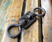 Rusty swivel steel link antique rusty link for your art projects