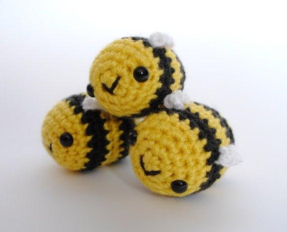 Amigurumi Bee Girl : Baby Bee Amigurumi Crochet Plushie MADE TO ORDER