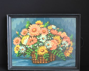 Tray Made with a Framed Paint By Number