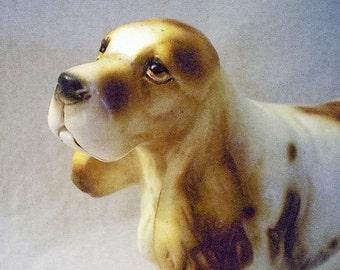 Ceramic Springer Spaniel Statue