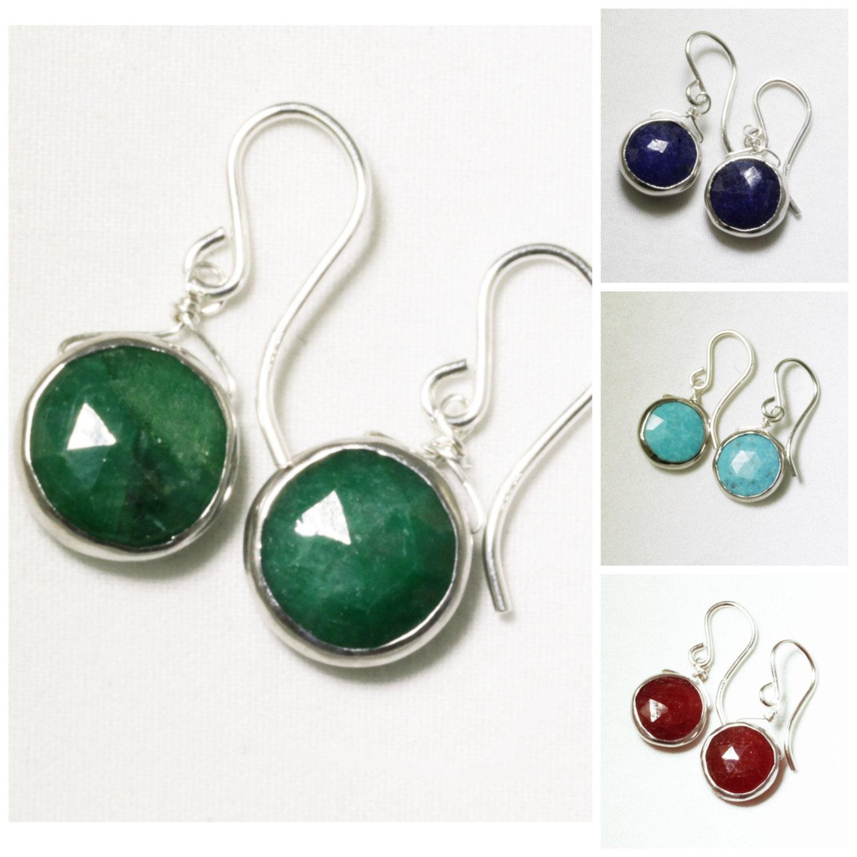 Real Life Emerald: Genuine Emerald Earrings Precious Emerald Earring Sterling