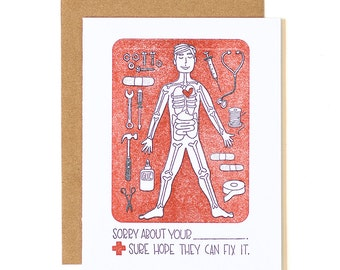 Sorry About Your Blank Letterpress Card