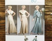 Evening Gown, Simplicity 80th Anniversary Pattern 3619, Size P5, 12-20 ~UNCUT~