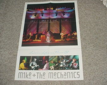 Mike and the Mechanics 1989 living years poster see add