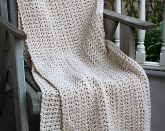 Download Now - CROCHET PATTERN Natural Wonder Blanket - Make to Any Size - Pattern PDF