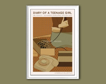 Movie poster Diary of a Teenage Girl retro print in various sizes