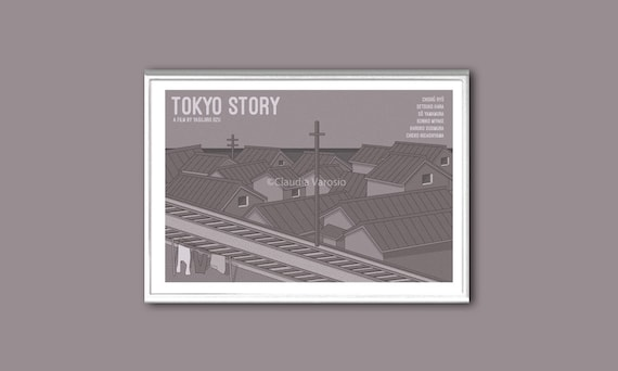 Retro poster Tokyo Story print in various sizes