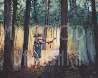 Conjuring Songbirds, Digital Download, Forest, Fairy Tale, Folktale, Surreal, Birdcage, Flute, Nest, Plague Mask, Magic, Ritual, Mask, Woods