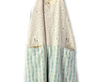 Dress - MACAI - OAK Vintage Linen and Silk -  Slip on Summer Dress - made by Resplendent rags