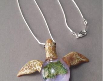 Lavender back Sea turtle Pendant Jewelry