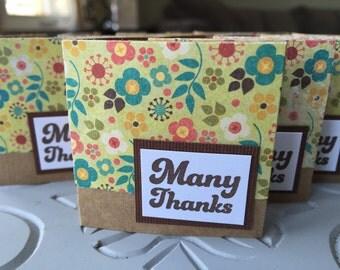 Mini Thank You Notes - set of 10