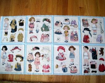 Aunt Lindy's Paper Dolls. Blue Hill Fabrics. 8 Panels. Rare. by Sibling Arts Studio, Inc.