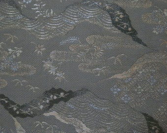 Fukuro obi S199,  earth tones