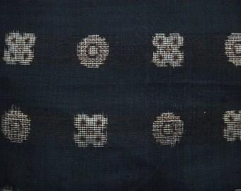 Vintage kimono S246,  brown black, silk