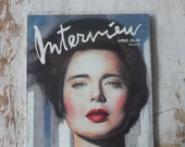 Rare Iconic Vintage 1988 Isabella Rossellini Issue Interview Magazine, Great Ads and Typography Andy Warhol