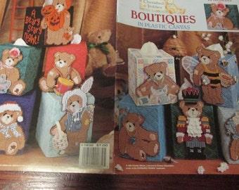 Plastic Canvas Boutiques in Plastic Canvas Cherished Teddies Leisure Arts 1832 Plastic Canvas Pattern Leaflet