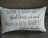 Beer Quote Pillow