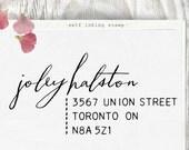 Custom Address Stamp, Return Address Stamp, Wedding address stamp, Calligraphy Address Stamp, Self Inking Address Stamp - 1011
