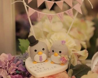 Penguins wedding cake topper (K409)