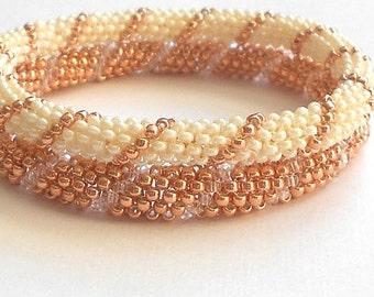 stackable beadwork bracelet