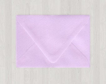10 A7 Envelopes - Euro Flap - Light Purple - DIY Invitations - Envelopes for Weddings and Other Events