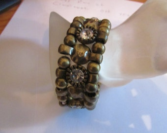 rhinestone bead brass