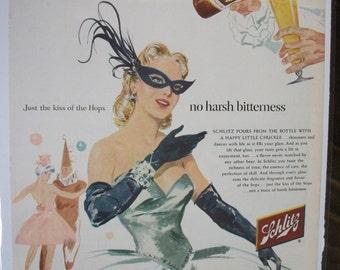 143 Schlitz  Beer Ad - 1954