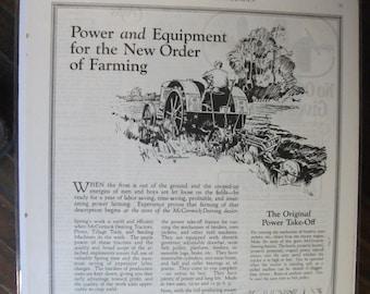 FARM 105 International Harvester  McCormick  Deering ! Ad   -  April  1926