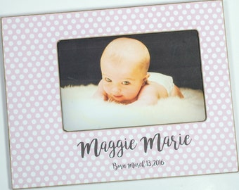 Newborn Baby Photo Frame, Baby boy, Baby girl, personalized baby frame 4x6, 5x7
