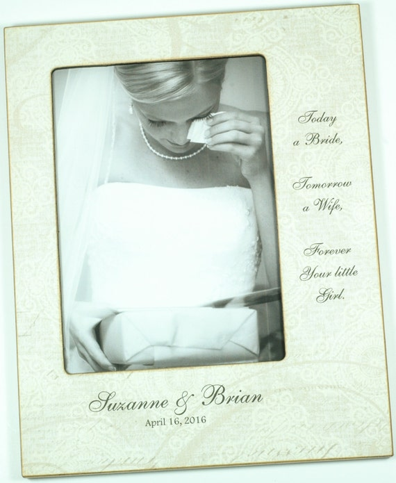 Personalized Wedding Picture Frames For Parents : ... Custom Wedding Photo Frame, Personalized wedding picture frame, 4x6