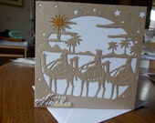 Christmas Card, religious  christmas card, 3 king christmas card, 3 wise men card