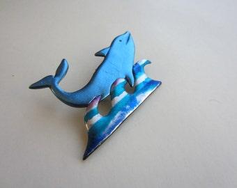 Dolphin Pin Brooch