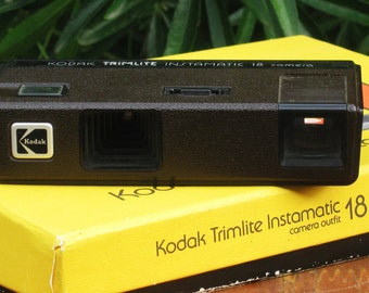 Vintage Kodak Trimlite Instamatic 18  110 Film Camera Set- 110 Film is Back!