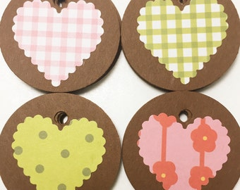40 Heart Tags - FREE WITH 20.00 PURCHASE